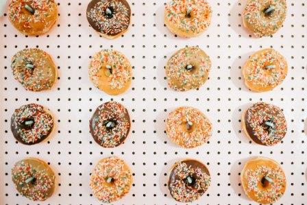 donuts on wall