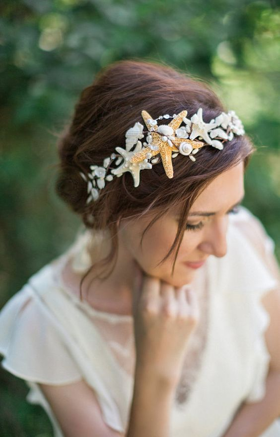 wedding hair sea accessories